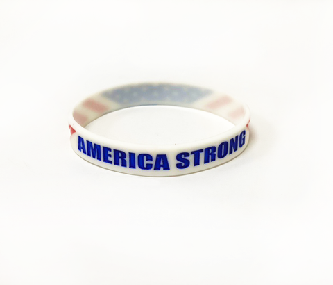America Strong White Wristbands