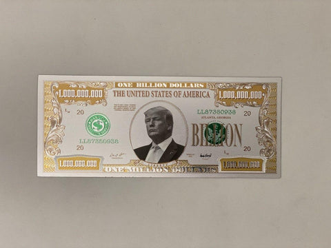 Donald Trump $1 Billion Silver Bill (Defective)