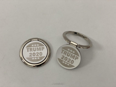 Trump 2020 SILVER Phone Ring Holder