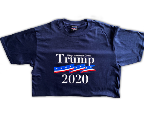 "Trump 2020 ""Keep America Great"" Navy T-Shirt"