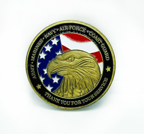 Thank You For Your Service Military Enamel Coin