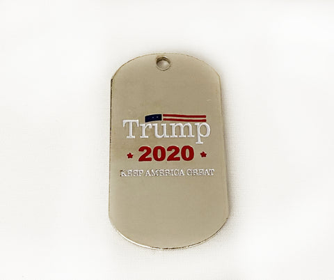 Trump 2020 Rectangle Dog Tag