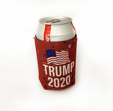 Trump 2020 Keep America Great Red Reusable Koozies