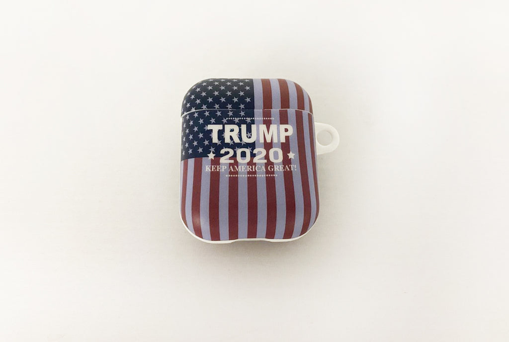 Trump 2020 Keep America Great American Flag AirPod Case