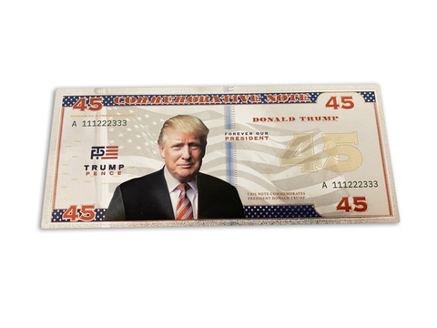 45th President Donald Trump Banknote