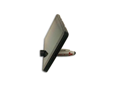'Jesus Is My Savior' Stylus Metal Flashlight Phone Stand Pen