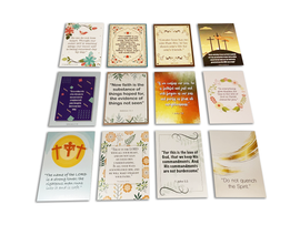 48 Mini Scripture Cards with Assorted Bible Verses