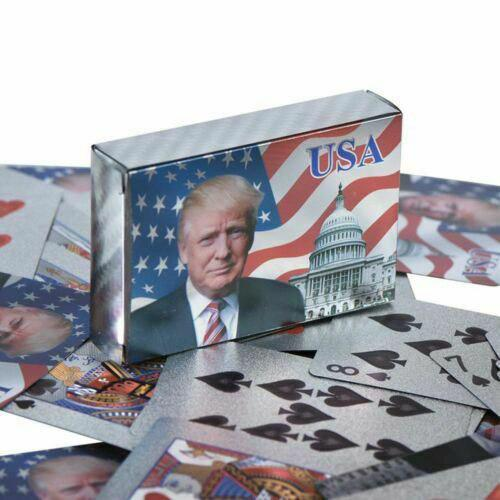 Donald Trump Silver Plated Playing Cards