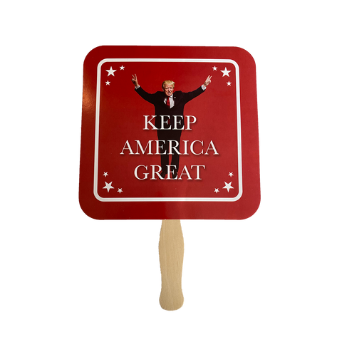 "Donald Trump ""Keep America Great"" Personal Fan *50 PACK*"