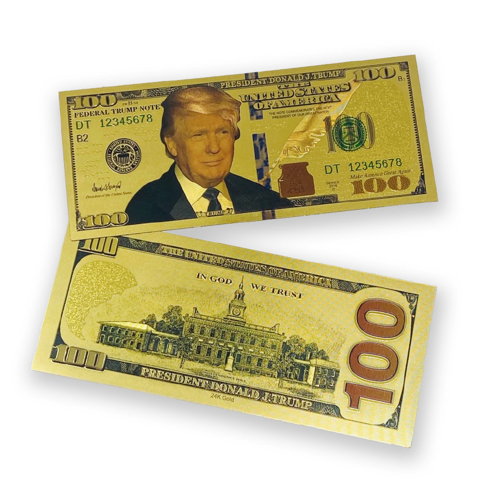 Donald Trump 24K Gold Plated Dollar Plus 1 Silver Coin Beautiful!!!!