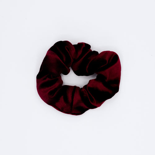 Scrunchie velvet dieprood