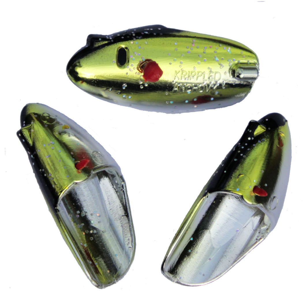 Krippled Anchovy Unrigged 3-pack, #316-Peters Choice on Krome