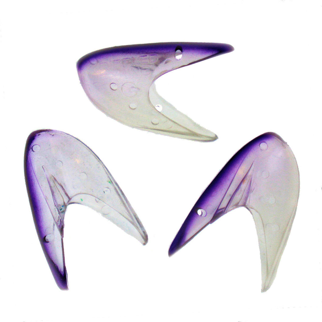 Krippled Herring #1 Unrigged 3-pack, #217-Grape on U.V.