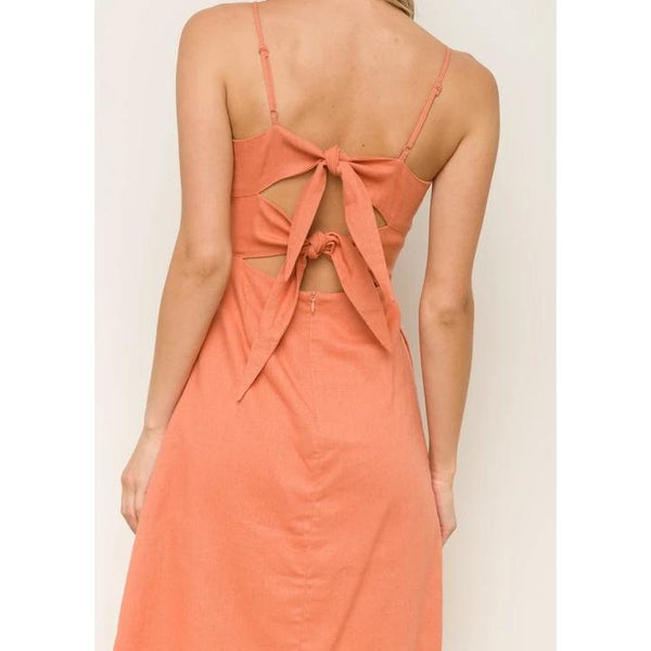 Orange You Glad I'm Here Midi Dress