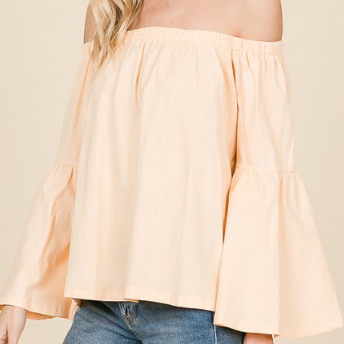 Just Peachy Off the Shoulder Top