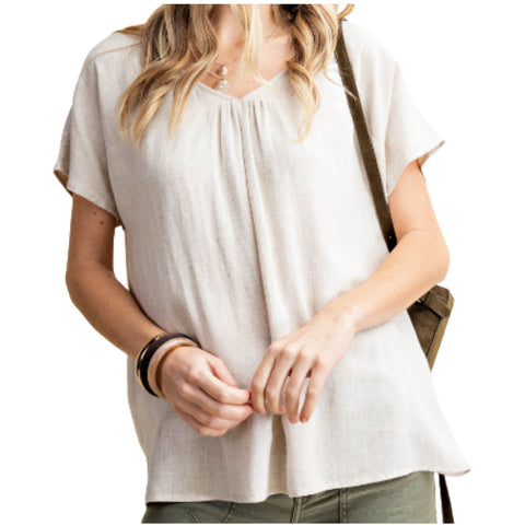 She's A Classic Girl Linen Top