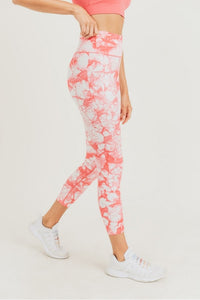 Coral Fire Leggings