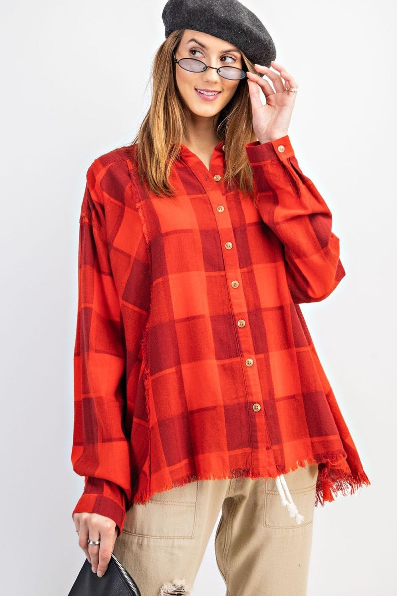 She's A Plaid Girl Top