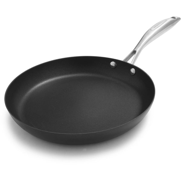 Scanpan Pro IQ 28cm eco friendly recycled aluminium frying pan, with stainless steel branded handle.