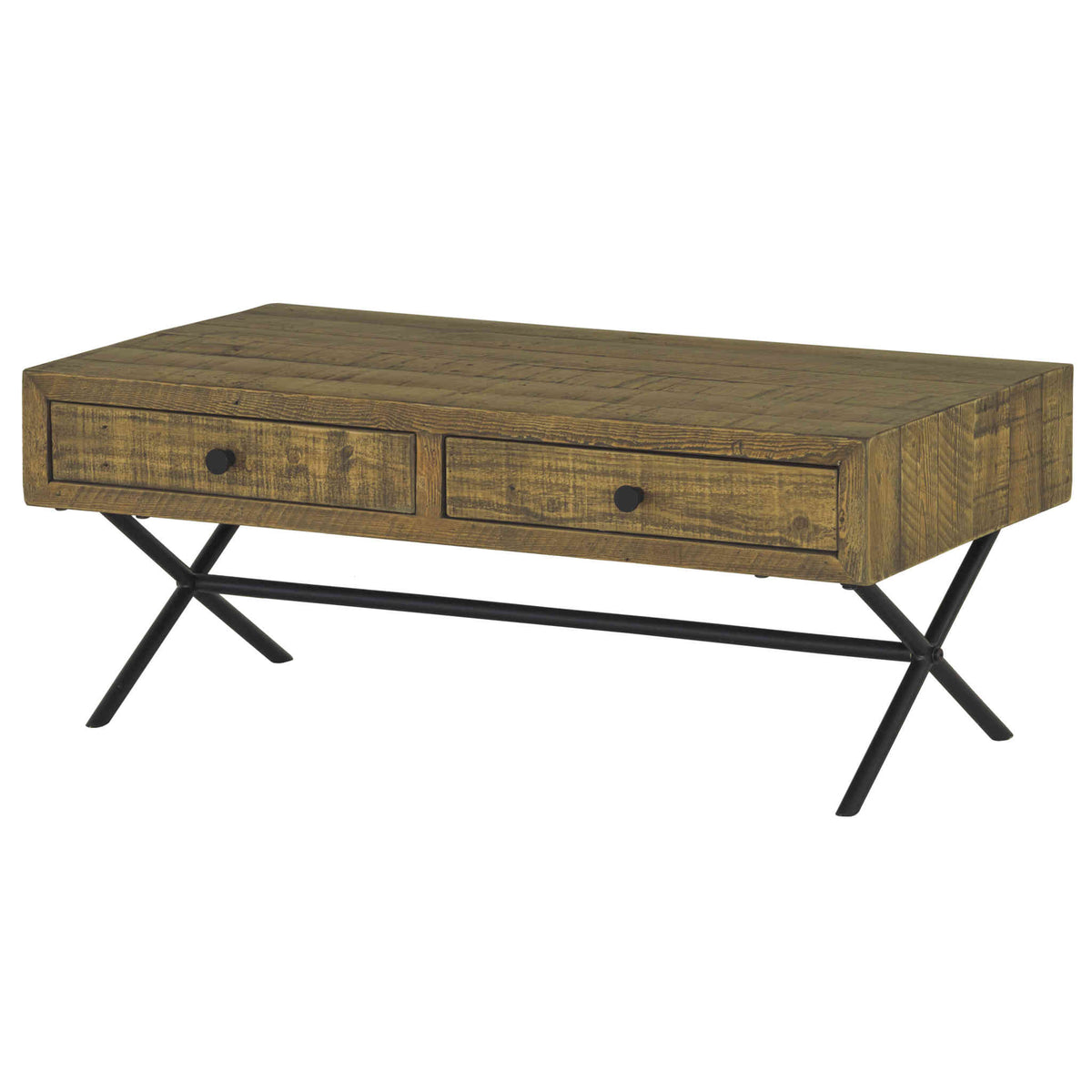 Picture of: Reclaimed Wood Coffee Table With Drawers Rechic Ltd
