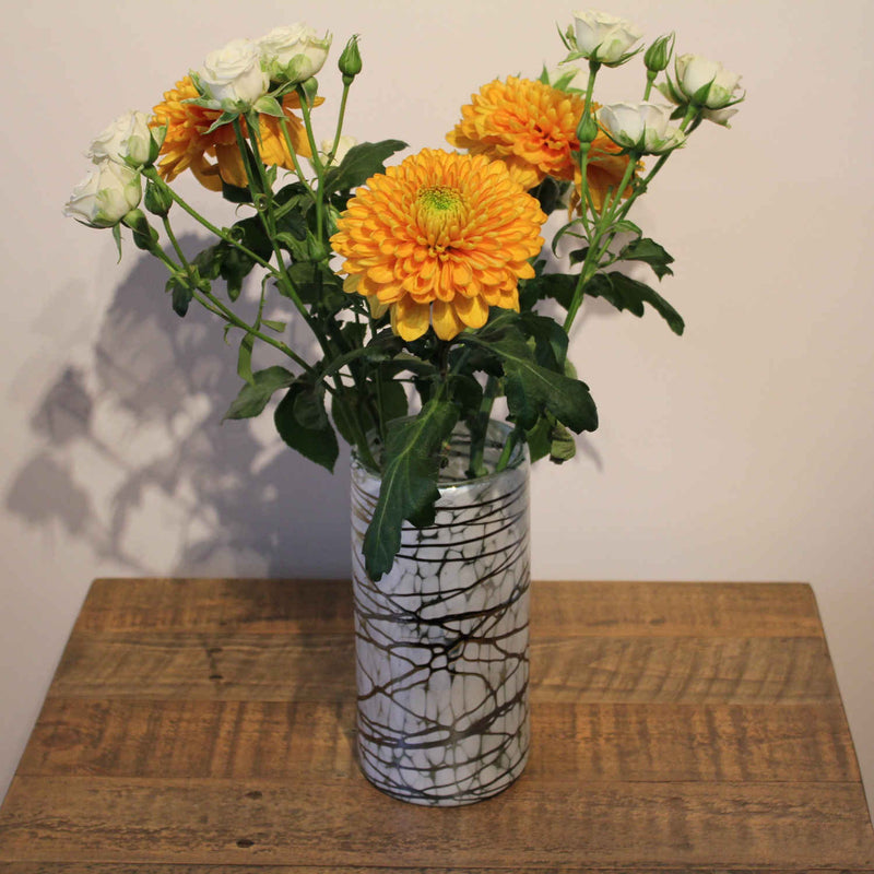 products/La-Galeria-White-Flaked-Perla-Vase-With-Orange-White-Flowers.jpg