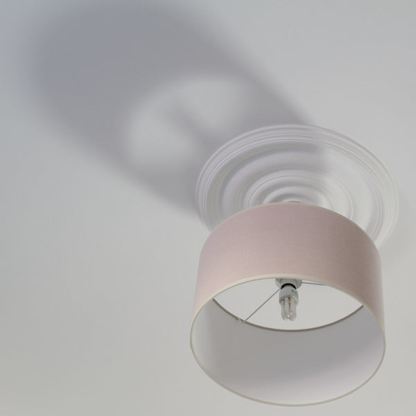 ReChic large recycled cotton stonewash soft pink cylinder lamp shade. 16 x 9 inches. 40cm.  Eco-friendly.