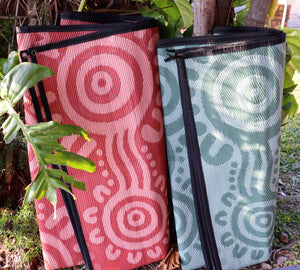 Coastal People Recycled mat (Green/Olive)