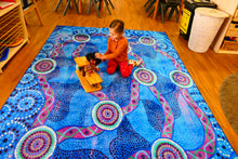 Load image into Gallery viewer, Waterways Rectangle | EMRO Designs | Aboriginal Rugs
