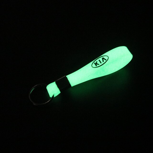 Luminous Silicone Emblem Badge Car sticker Key Ring FOR KIA K2 K3 K5 k9 Sorento Sportage R Rio Soul Accessories Car Styling