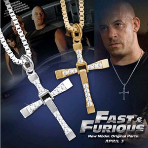 FAMSHIN free shipping Fast and Furious  6  7 hard gas actor Dominic Toretto /  cross necklace pendant,gift for your boyfriend