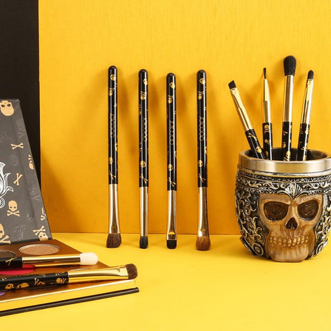 10 Pieces Goth Eye Makeup Brush Set (Standard Shipping) DOCOLOR OFFICIAL