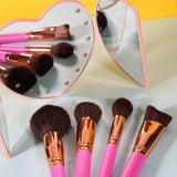 11 Pieces Basic Brush Set (Pink) DOCOLOR OFFICIAL