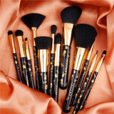 12 Pieces Goth Makeup Brush Set DOCOLOR OFFICIAL