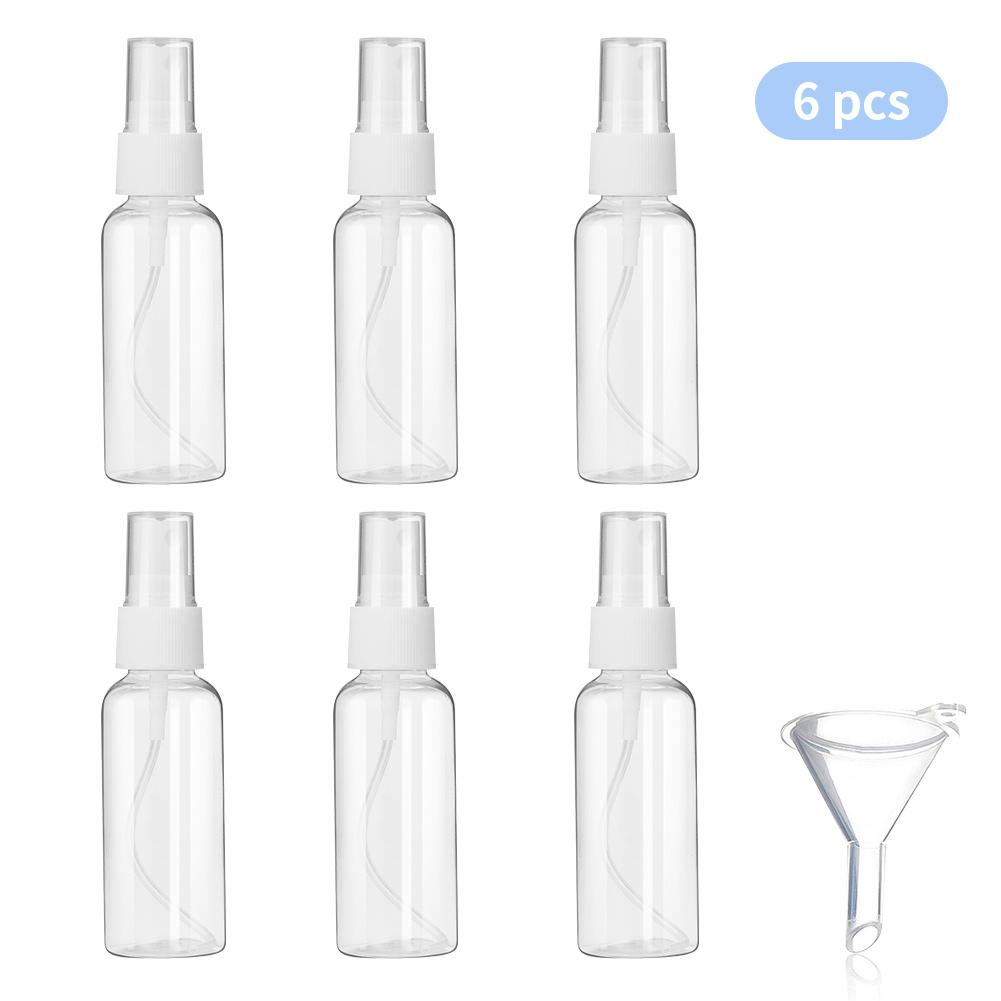2oz/50ml Spray Bottles Clear Empty Fine Mist Plastic with 1pcs Funnels DOCOLOR OFFICIAL