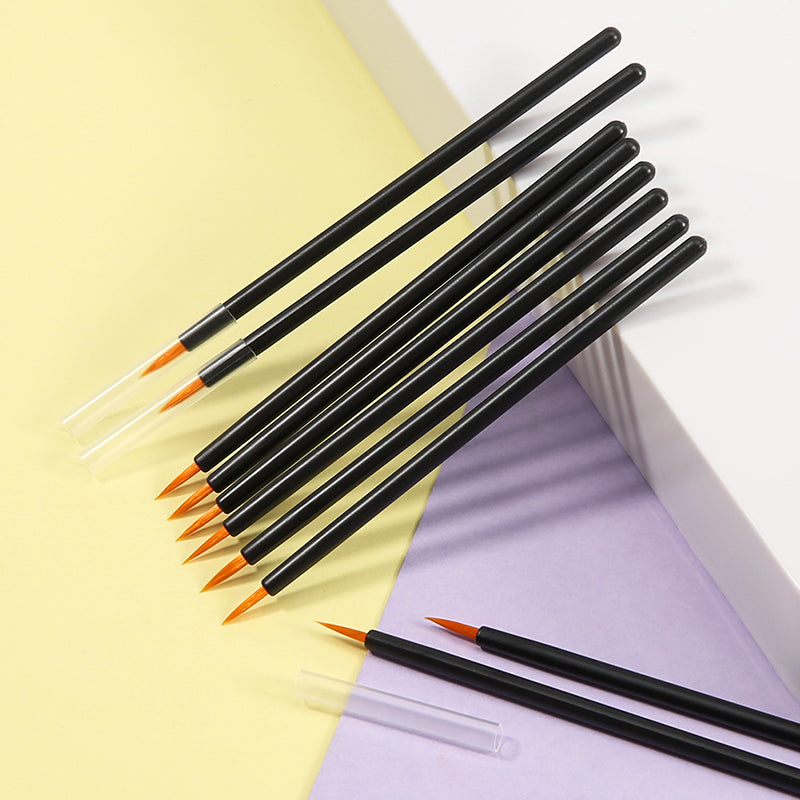 (Only Ship to USA)Docolor 100pc Disposable Makeup Eyeliner Brushes(Yellow)