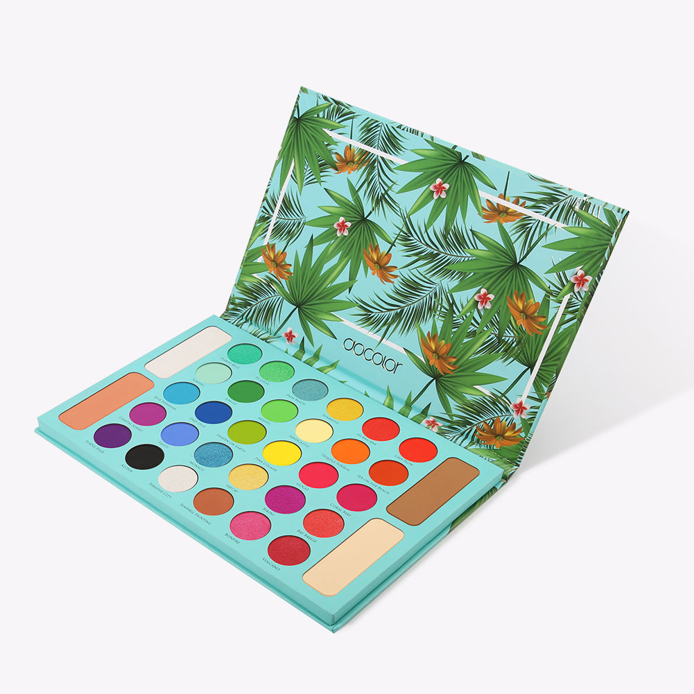 Tropical 34 Color Eye Shadow Palette - DOCOLOR OFFICIAL