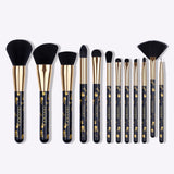 Goth - 12 Piece Makeup Brush Set - DOCOLOR OFFICIAL