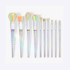 Supernova - 10 Pieces Makeup Brush Set