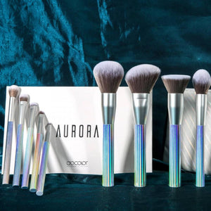 AURORA 9 Pieces Makeup Brush Set With Bag DOCOLOR OFFICIAL