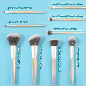 AURORA 9 Pieces Makeup Brush Set with Bag+15 Color Scene Stealer Eye Shadow Palette & 4 PC Eye Makeup Brush DOCOLOR OFFICIAL