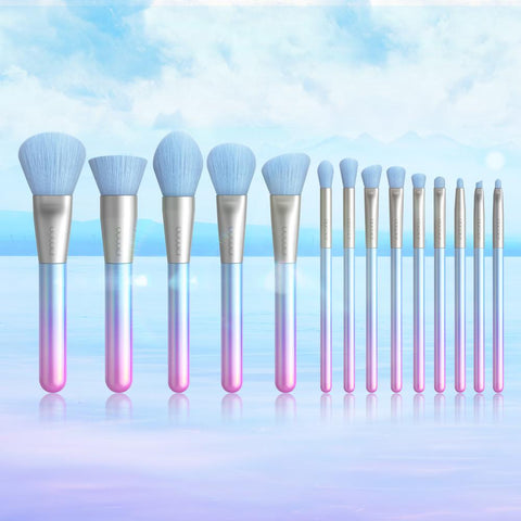Breathing Crystal - 14 piece Makeup Brush Set DOCOLOR OFFICIAL