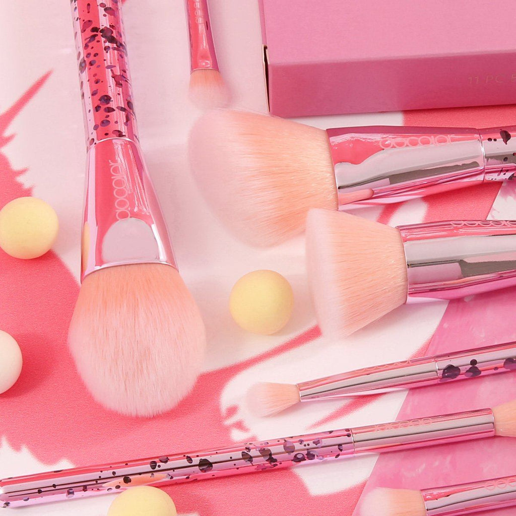 Bubble Gum - 11 piece Synthetic Brush Set DOCOLOR OFFICIAL