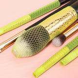 Docolor 10pcs Makeup Brushes Net Protector Guard Elastic Mesh Beauty Make Up Cosmetic Brush Cover Sheath Net Without Brush DOCOLOR OFFICIAL