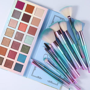 Fantasy Shadow Palette and 11 Pieces Brush Set DOCOLOR OFFICIAL