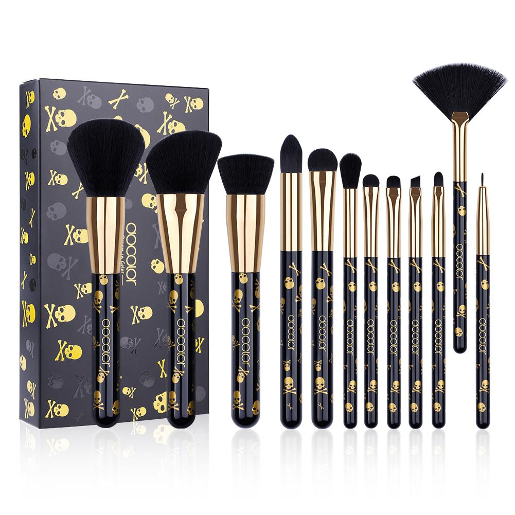 Goth - 12 Piece Makeup Brush Set DOCOLOR OFFICIAL