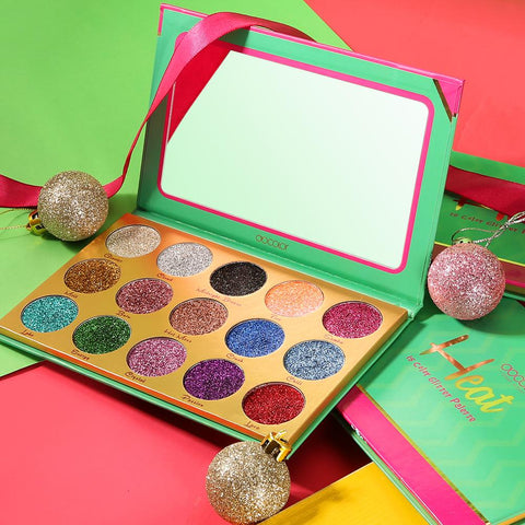 Heat 15 Color Glitter Palette DOCOLOR OFFICIAL