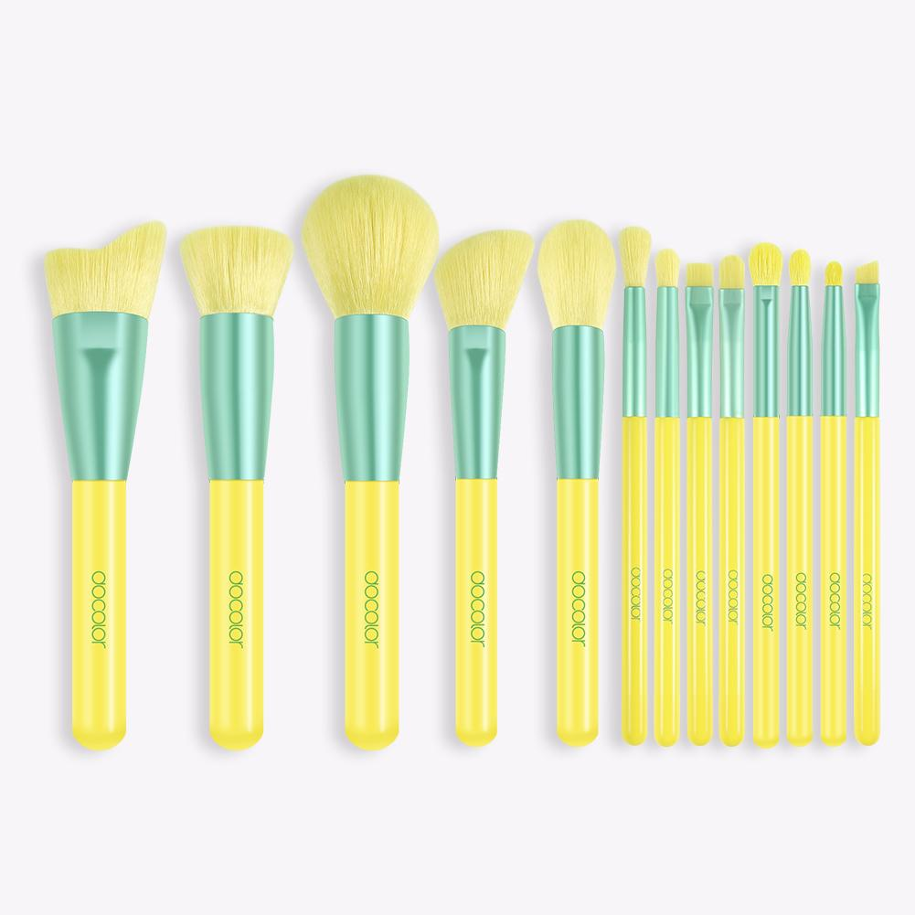 Lemon 13 Piece Makeup Brush Set DOCOLOR OFFICIAL