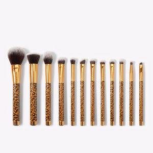 Leopard - 12 Pieces Makeup Brush Set DOCOLOR OFFICIAL