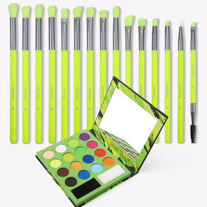Neon - 16 color Palette + 15 PC eye brush set DOCOLOR OFFICIAL