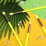 Neon Green 4pcs Eye Brushes Set DOCOLOR OFFICIAL